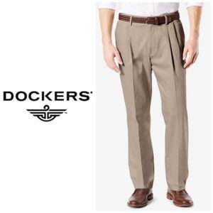 Dockers Mens Tan Classic Pleated Pants 32 x 34 NWT